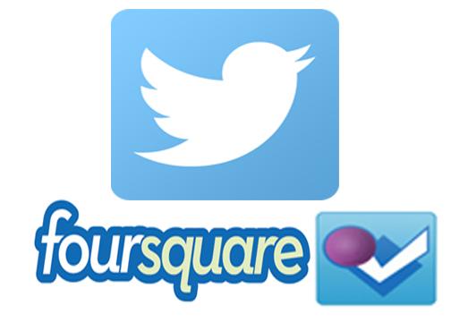 Twitter Foursquare