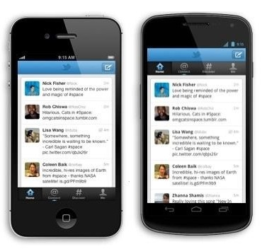 Twitter updates its mobile app for iOS and Android