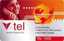 V-Tel, an international calling card