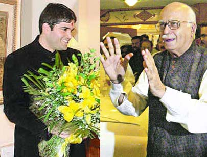 Varun Gandhi meets Advani, urged to respect SC order