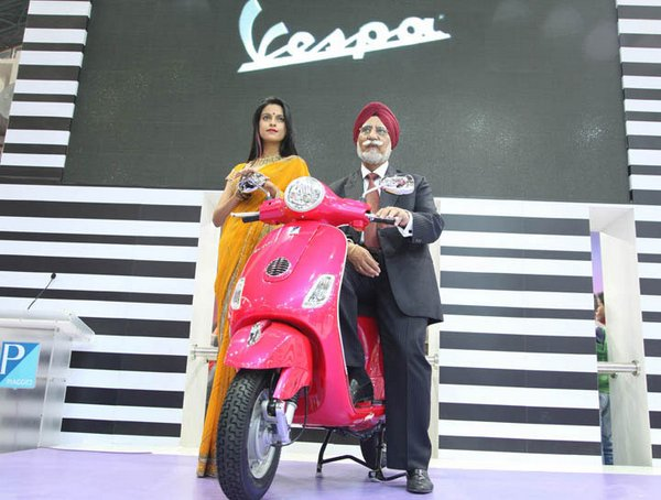 Piaggio launches Vespa scooter in India