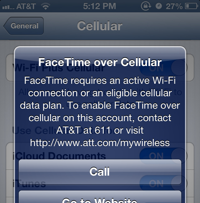 AT&T extends FaceTime over cellular to more iPhone users than earlier suggested