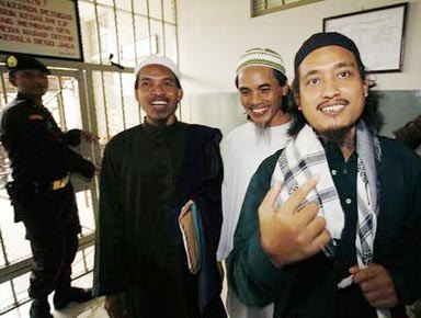Three Bali bombers