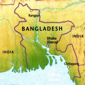 Bangladesh - harta
