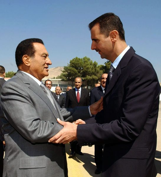 Hosni Mubarak and Bashar al-Assad