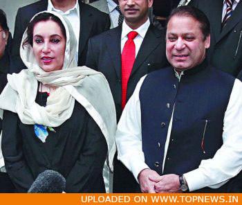 former Prime Minister Nawaz Sharif, Benazir Bhutto