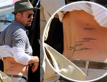 Brad Pitt Tattoos