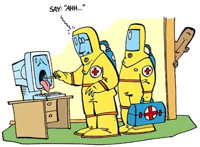 When our PC is infected with viruses. We will usually call the Tech Support team for the rescue !