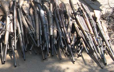 Zambia poachers give up illegal arms