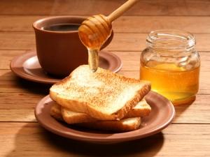 Honey on toast