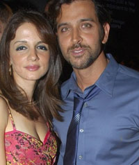 Hrithik Roshan and wife Suzanne Khan