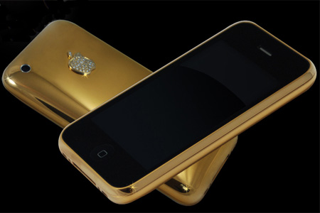 Stuart Hughes offers valuable beauty in form of 22 carat solid gold iPhone 3G