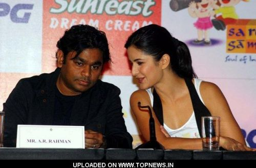 "A R Rahman and Katrina Kaif at the Launch of Magical Musical Nursery Kids Album-""Rhyme Skool"""