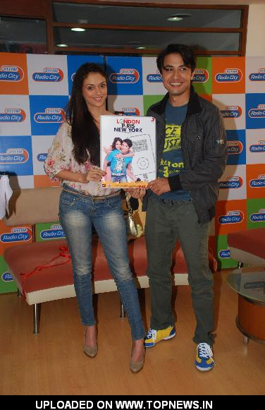 "Ali Zafar and Aditi Rao Hydari at the music launch of his upcoming movie ""London Paris Newyork"" at Radio City"