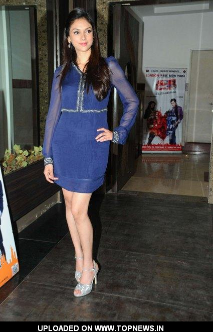 "Ali Zafar and Aditi Rao Hydari at Promotional event of the movie ""London Paris New York"" at Andheri"
