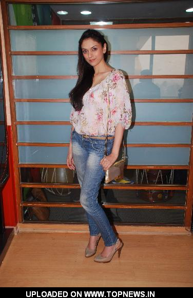 "Aditi Rao Hydari at the music launch of his upcoming movie ""London Paris Newyork"" at Radio City"