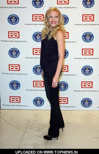 "Adrianne Frantz at Guinness World Records Names ""The Bold and the Beautiful"" ""Most Popular Daytime TV Soap - Current"" - Arrivals"
