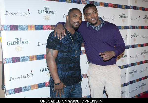 Ahmad Bradshaw and Danny Ware at 9th Annual Dressed to Kilt Charity Fashion Show - Arrivals