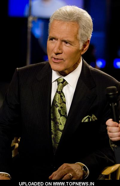 Alex Trebek Host Of Jeopardy! Conducts Pre-Show Interviews at CES 2009 During Taping Of Jeopardy! 25th Anniversary - January 8,