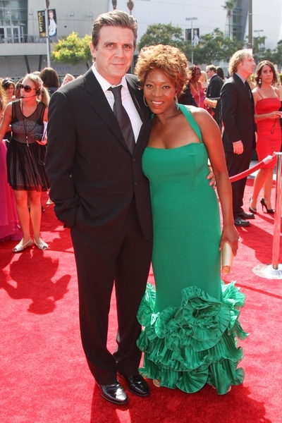 Alfre Woodard, Roderick Spencer at   2011 Primetime Creative Arts Emmy Awards - Arrivals