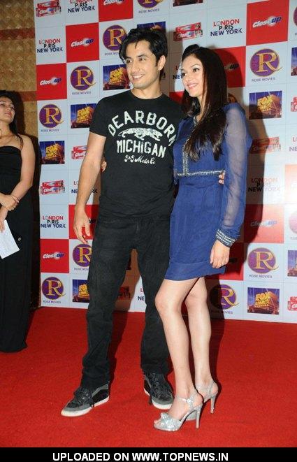 """Ali Zafar and Aditi Rao Hydari at Promotional event of the movie """"London Paris New York"""" at Andheri"""