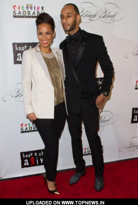 Alicia Keys and Swizz Beatz at the Keep A Child Alive Black Ball