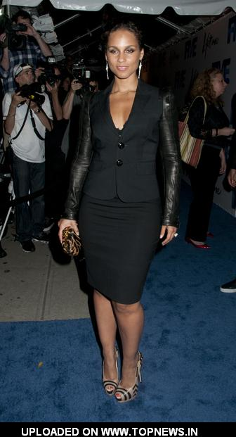 "Alicia Keys at ""Five"" Lifetime TV Series New York City Screening - Arrivals"
