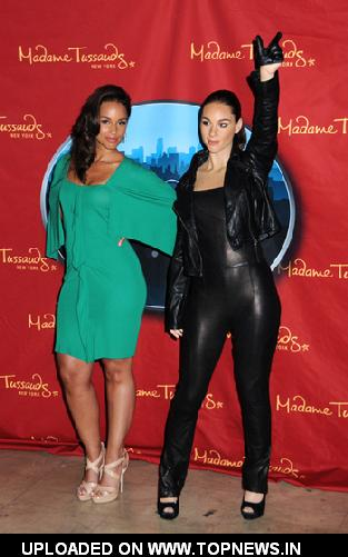 Alicia Keys Unveils Wax Figure in NYC