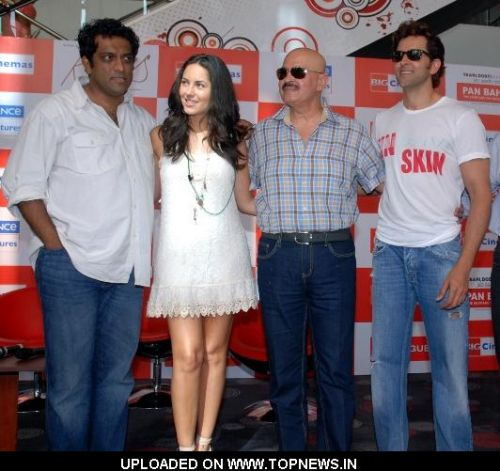 "Anurag Basu, Barbara Mori, Rakesh Roshan and Hrithik Roshan at Promotion and Press Conference of Movie ""Kites"""