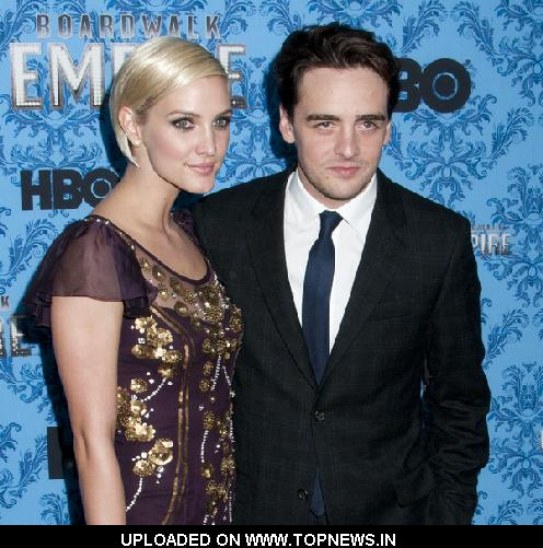 "Ashlee Simpson and Vinny Piazza at ""Boardwalk Empire"" TV Series New York City Screening - Arrivals"