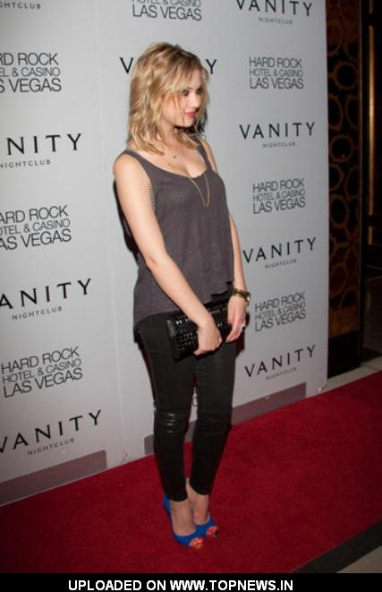 Ashley Benson Celebrates Birthday at Vanity Nightclub in Vegas