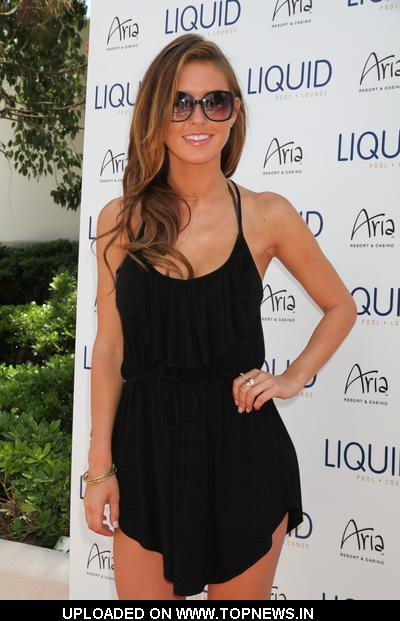 Audrina Patridge's 25th Birthday Celebration at Liquid Pool in Las Vegas on May 8, 2010