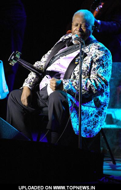 B. B. King at Concert at the Count Basie Theatre - February 24, 2009