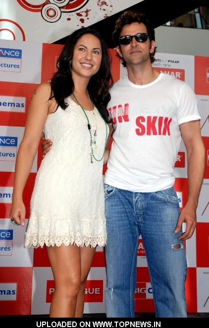 "Barbara Mori and Hrithik Roshan at Promotion and Press Conference of Movie ""Kites"""