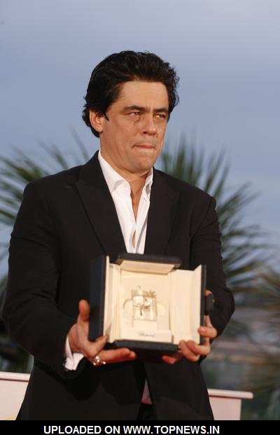 Benicio Del Toro at 2008 Cannes Film Festival - Palme d'Or Closing Ceremony - Photocall