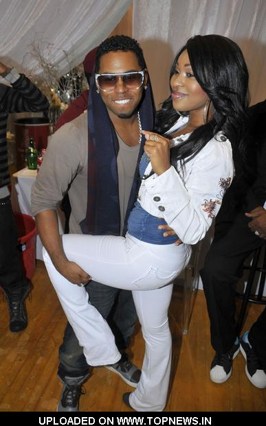 "Bobby V and Porscha Coleman at 1st Annual ""Gifts of Joy"" Holiday Toy Drive and Benefit Concert"