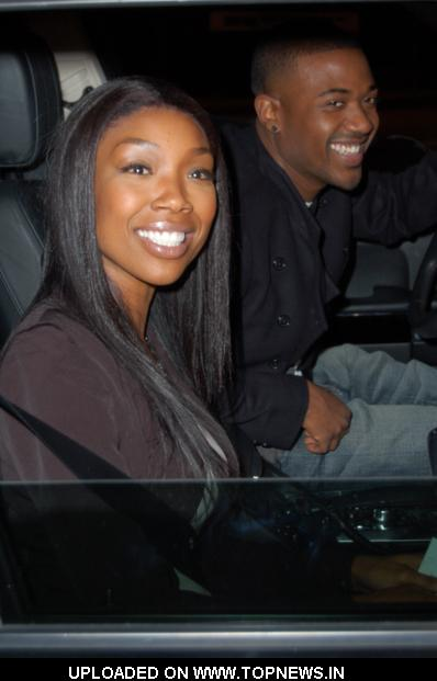 Brandy Norwood  at Ray J and Brandy Norwood Sighted at Boa Steakhouse in West Hollywood