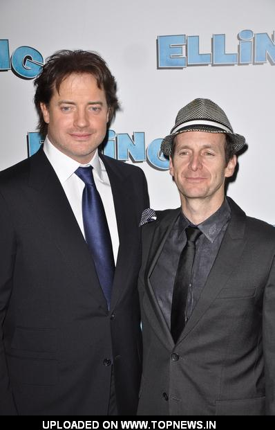 "Brendan Fraser and Denis O'Hare at ""Elling"" Broadway Opening Night - After Party"
