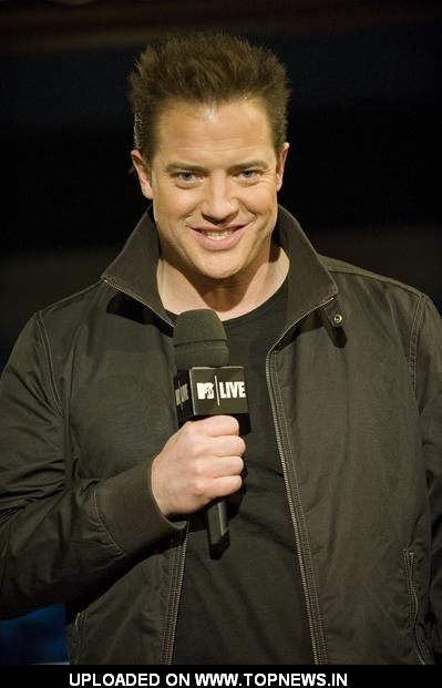 "Brendan Fraser Visits MTV Canada ""MTV Live"" on January 13, 2009"