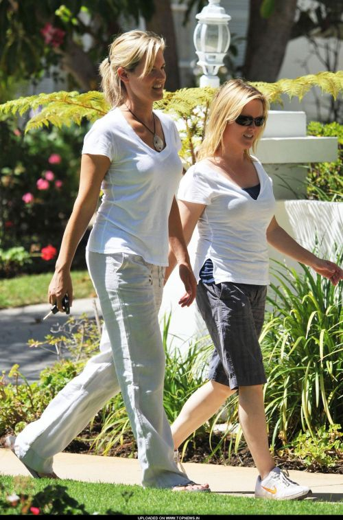 Bridgette Wilson out for a walk after having lunch in Santa Monica