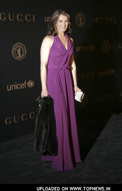 "Brooke Shields at Madonna and Gucci Host ""A Night to Benefit Raising Malawi and UNICEF"" - Arrivals"
