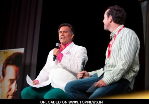 "Bruce Campbell and Matt Nix  at Comic-Con International: San Diego 2011 - Day 1 - ""Burn Notice: The Fall of Sam Axe"" Panel"