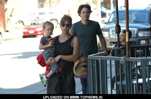 Casey Affleck with his son Indiana August arriving at a medical centre in Beverly Hills