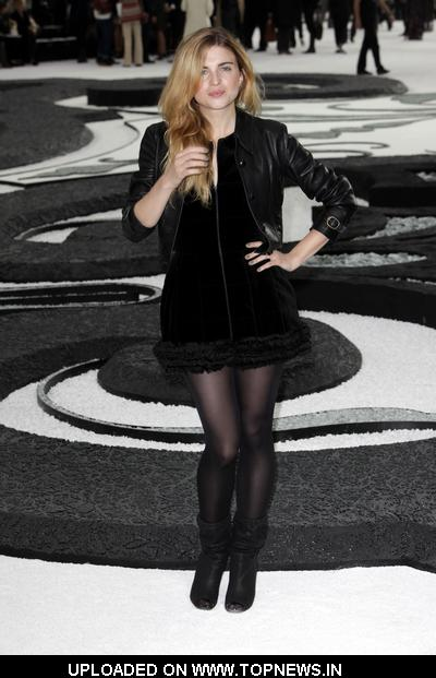 Cecile Cassel at Paris Fashion Week Spring/Summer 2011 - Chanel - Photocall