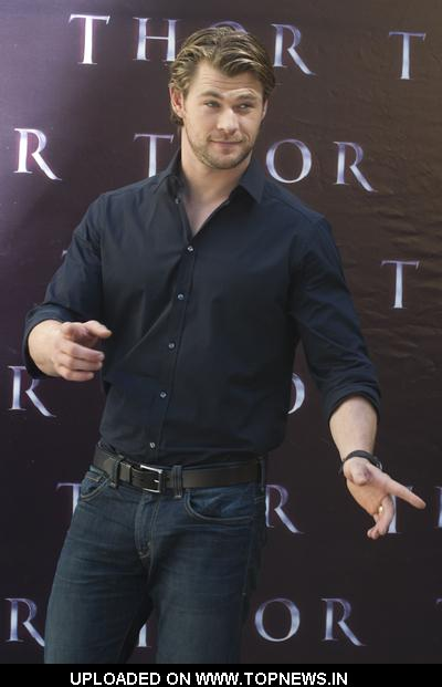 "Chris Hemsworth at ""Thor"" Madrid Photocall"