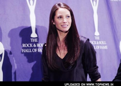 Christy Turlington at 23rd Annual Rock and Roll Hall of Fame Induction Ceremony - Press Room