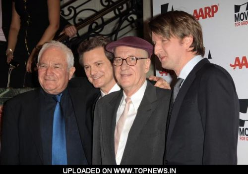David Seidler, Colin Firth, Geoffrey Rush and Tom Hooper at AARP The Magazine's 10th Annual Movies For Grownups Awards- Arrivals