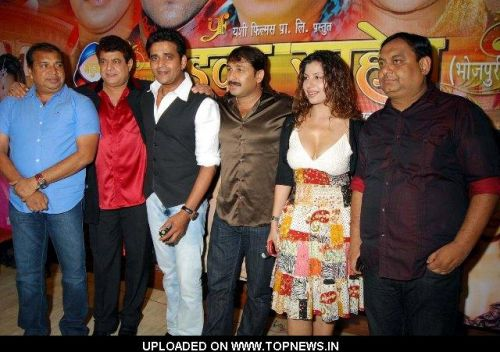 Director-Arshad Khan, Gajendra Chauhan and Ravi Kishan at Press Conference of Bhojpuri film 'Badka Sahab'