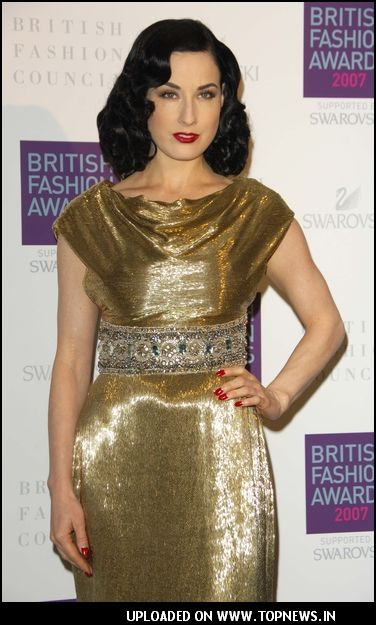 """Dita-Von-Teese"" at British Fashion Award at the Horticultural Hall in London"