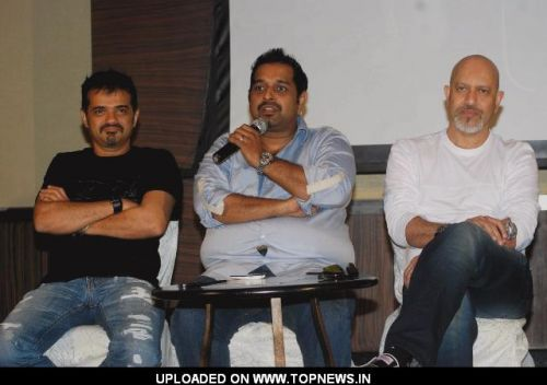 Shankar, Ehsaan and Loy at the launch of I phone application